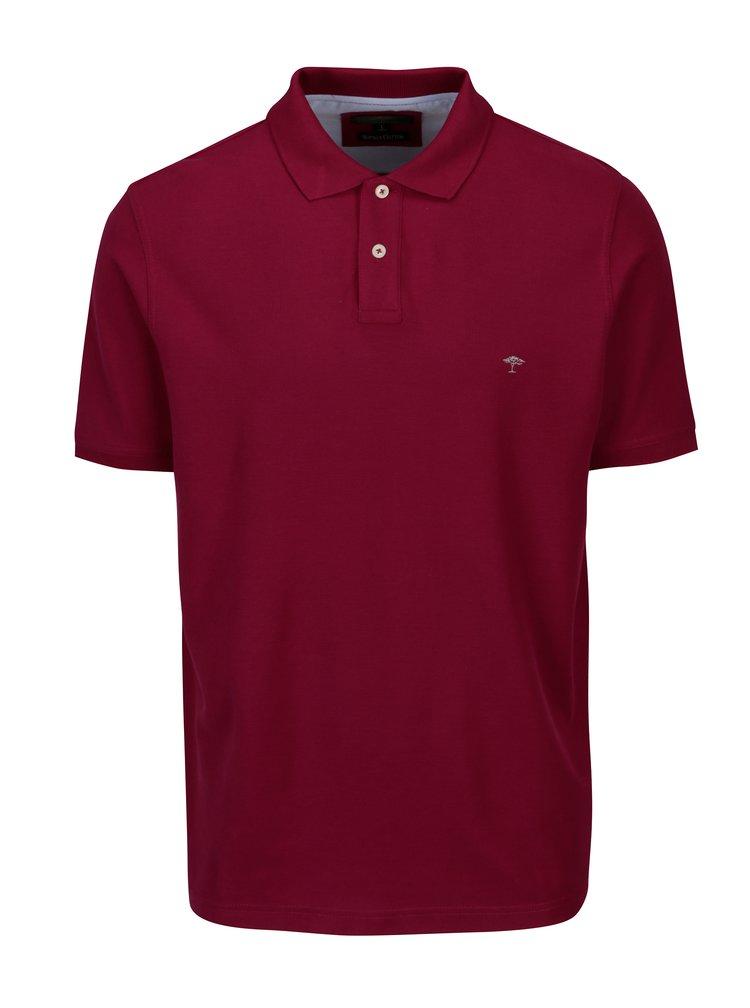 Vínové polo tričko s krátkým rukávem Fynch-Hatton