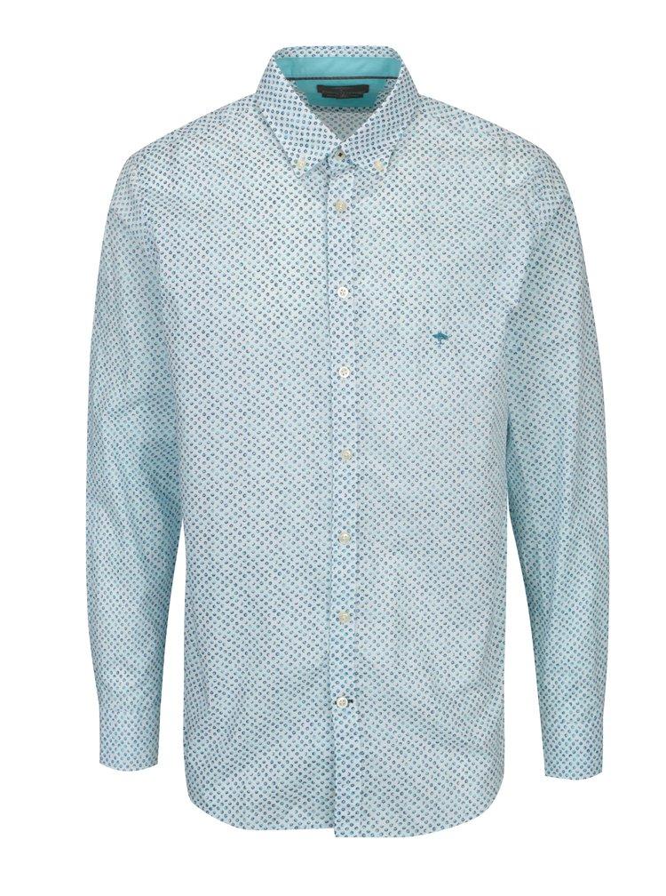 Modro-krémová vzorovaná modern fit košile Fynch-Hatton
