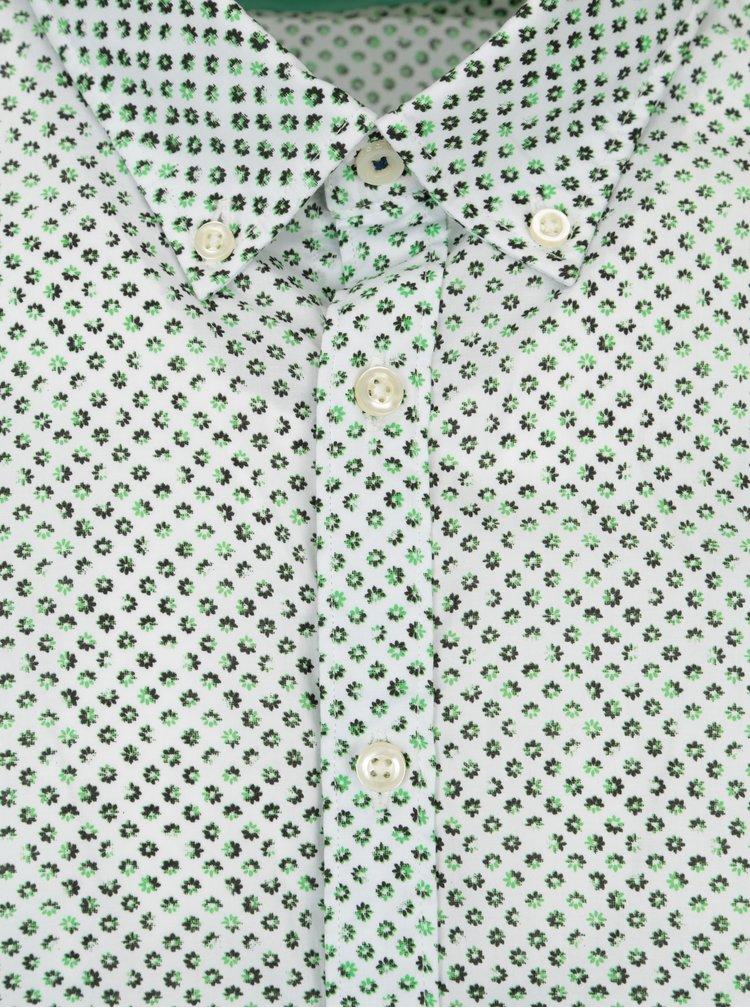 Zeleno-bílá vzorovaná modern fit košile Fynch-Hatton