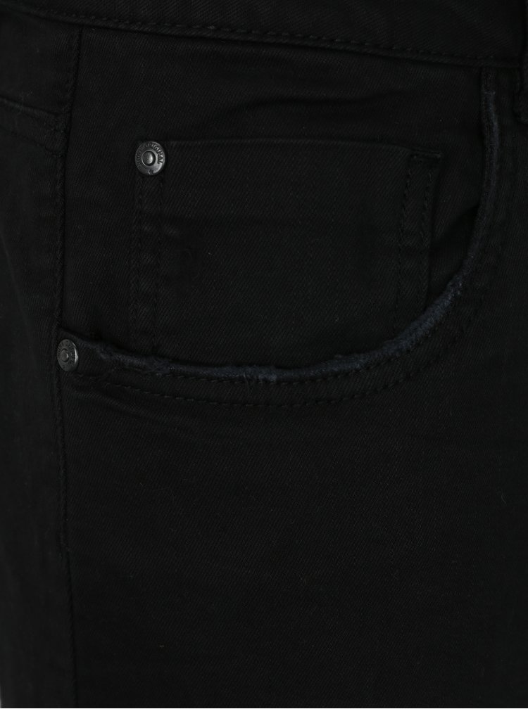 Pantaloni scurti negri din denim - Shine Original