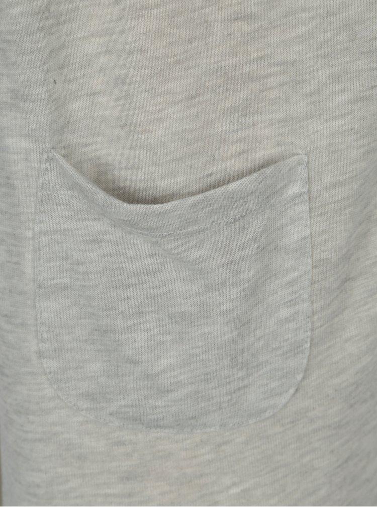Světle šedý kardigan s kapsami VERO MODA Wilma