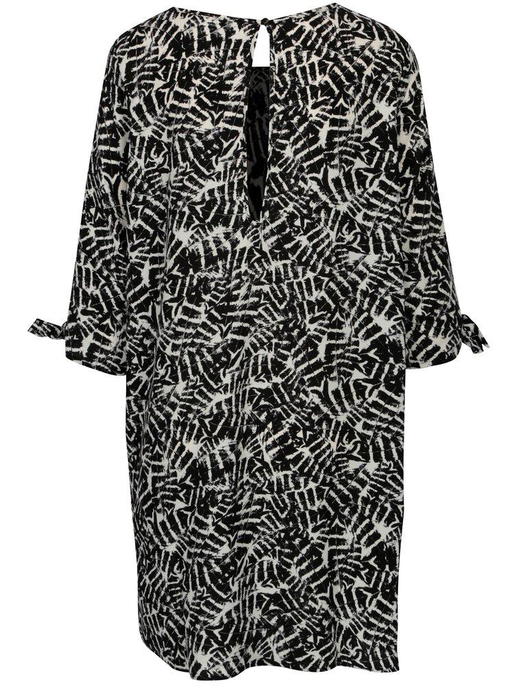 Krémovo-černé vzorované šaty Jacqueline de Yong Beyond