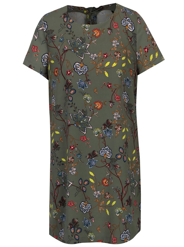 Zelené květované šaty ONLY Amara