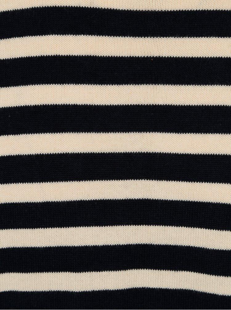 Tmavě modrý pruhovaný svetr SUIT