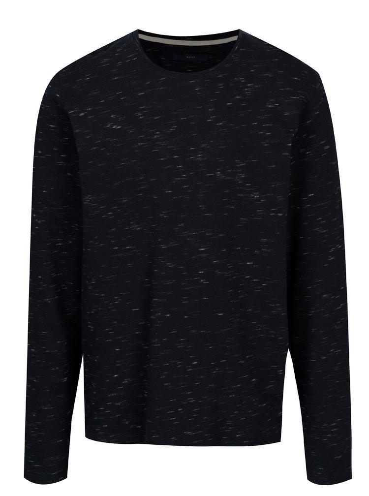 Tmavě modrý lehký žíhaný svetr SUIT