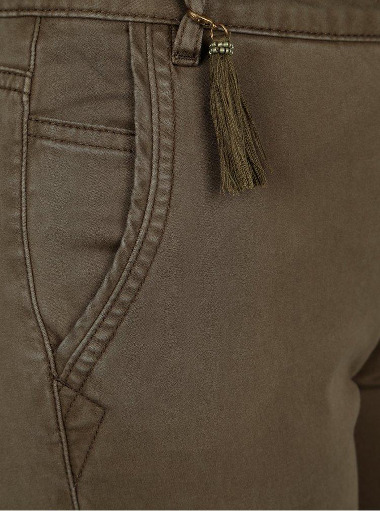 Khaki kalhoty s kapsami a páskem ONLY Cole