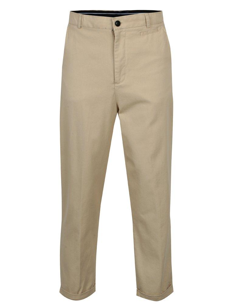 Pantaloni chino bej cu buzunare - SUIT