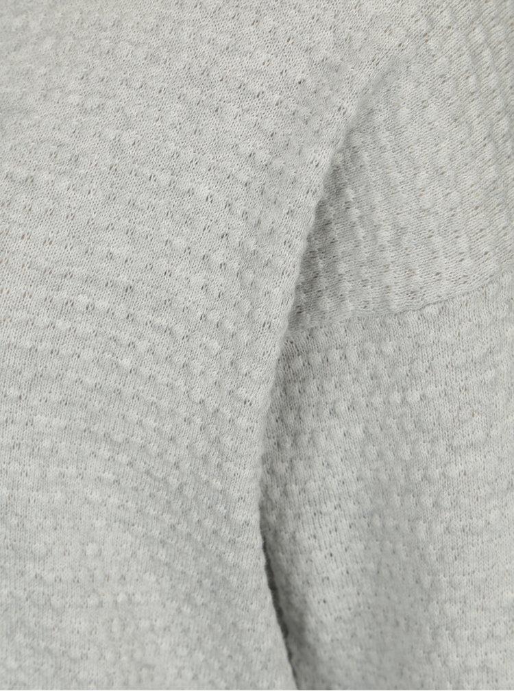 Světle šedý vzorovaný svetr Jacqueline de Yong Barbera