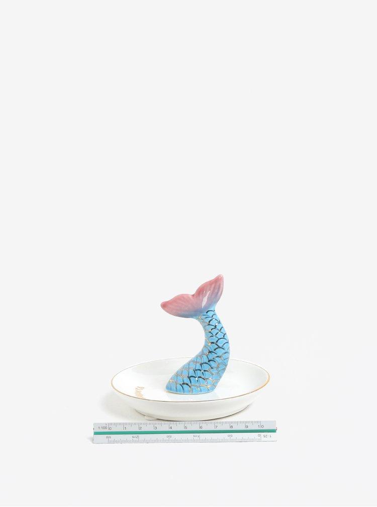 Krémová miska na šperky s motivem mořské panny Sass & Belle Mermaid