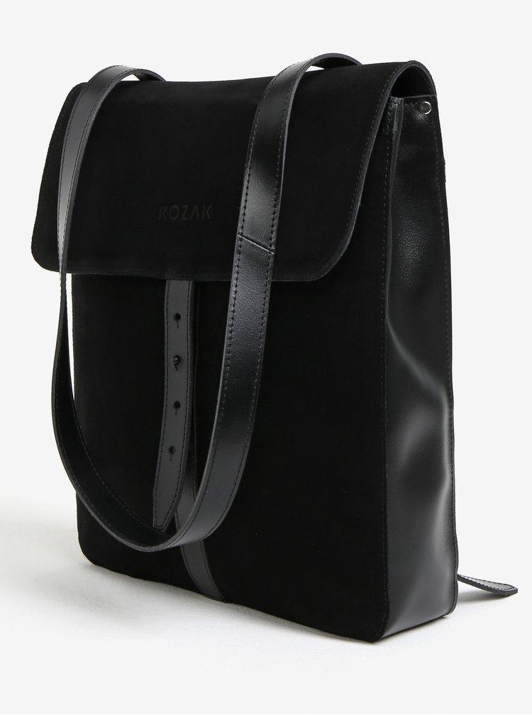 Čierny semišový batoh KOZAK YU III.