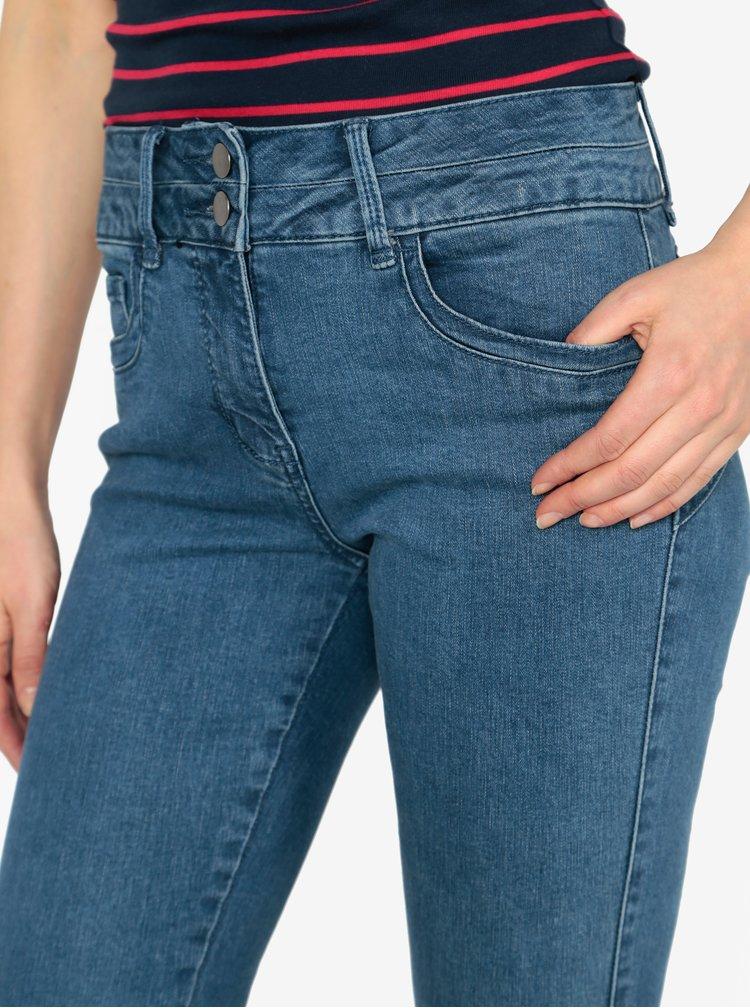 Modré zkrácené slim fit džíny M&Co
