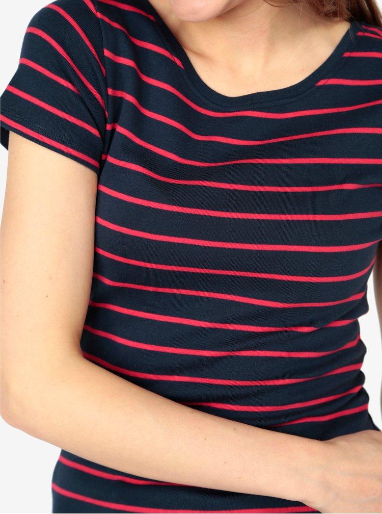 Tmavě modré pruhované tričko M&Co