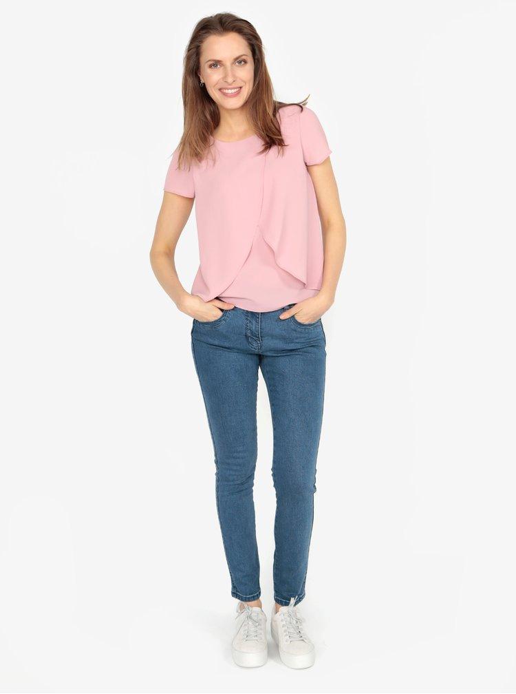 Bluza roz cu volane suprapuse M&Co