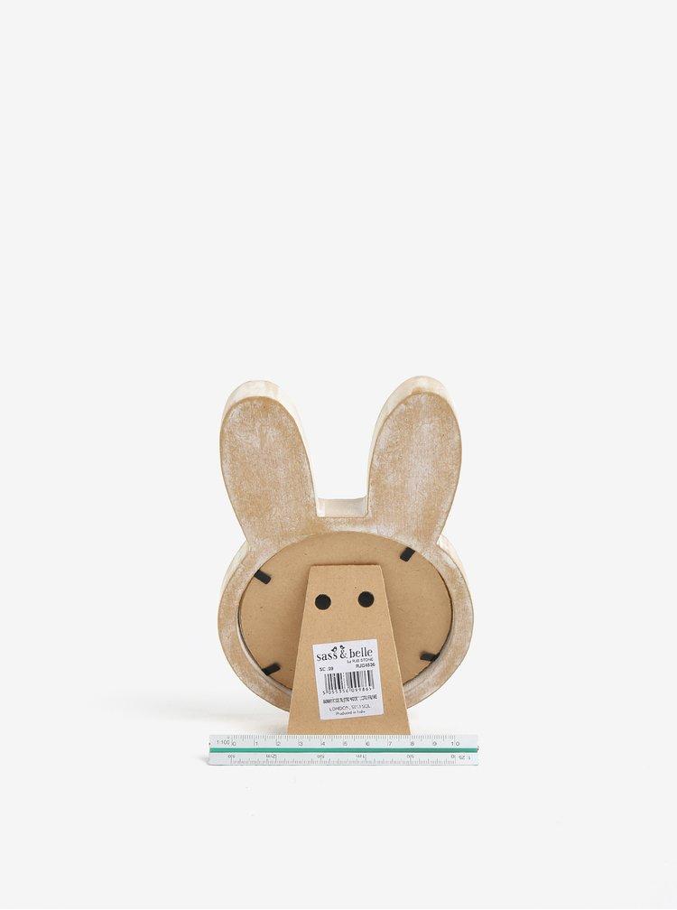 Béžový dětský rámeček na fotky ve tvaru zajíce Sass & Belle Bunny