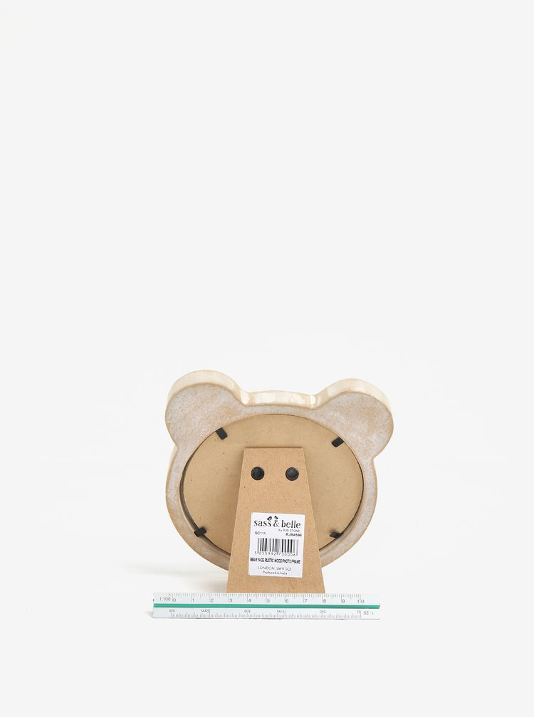 Béžový dětský rámeček na fotky ve tvaru medvěda Sass & Belle  Bear