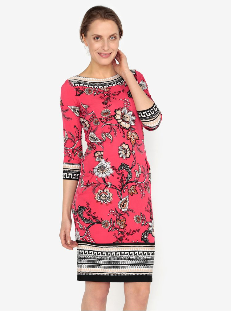 Červené vzorované šaty M&Co