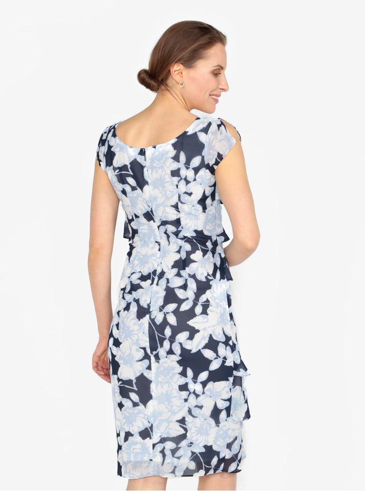 Modré vzorované šaty s volány M&Co