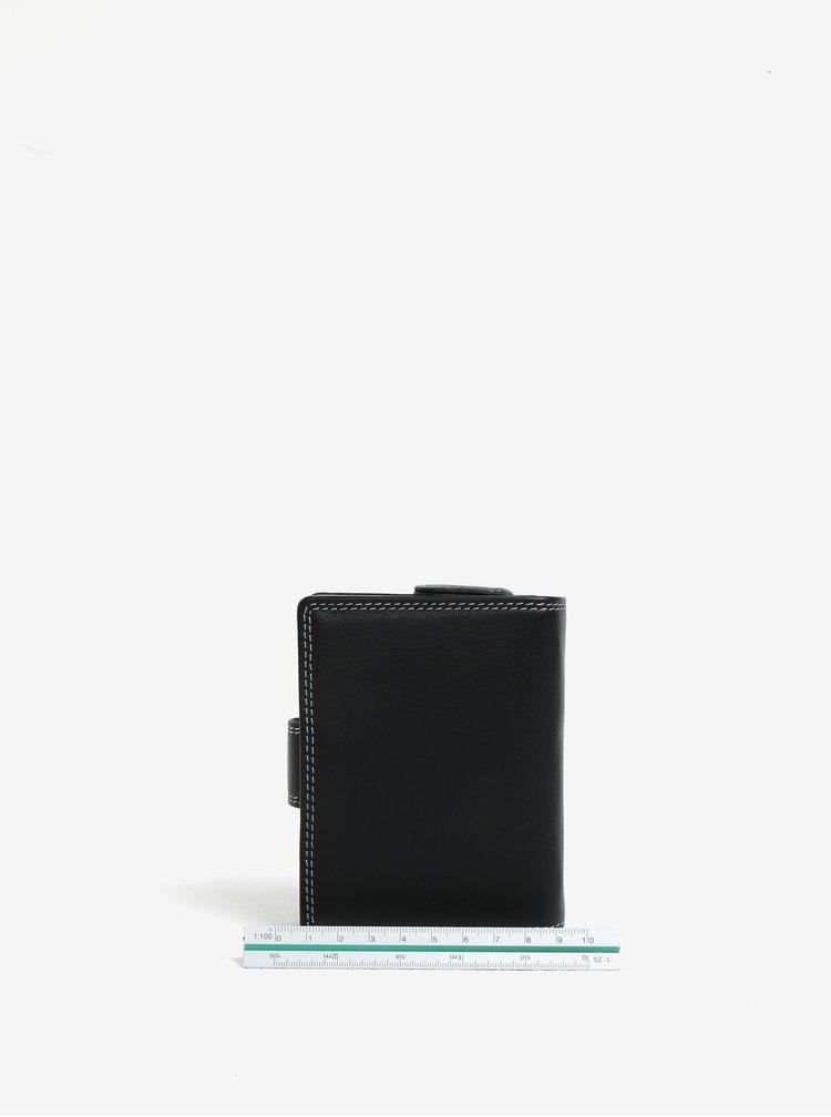 Černá dámská kožená peněženka s barevným vnitřkem KARA