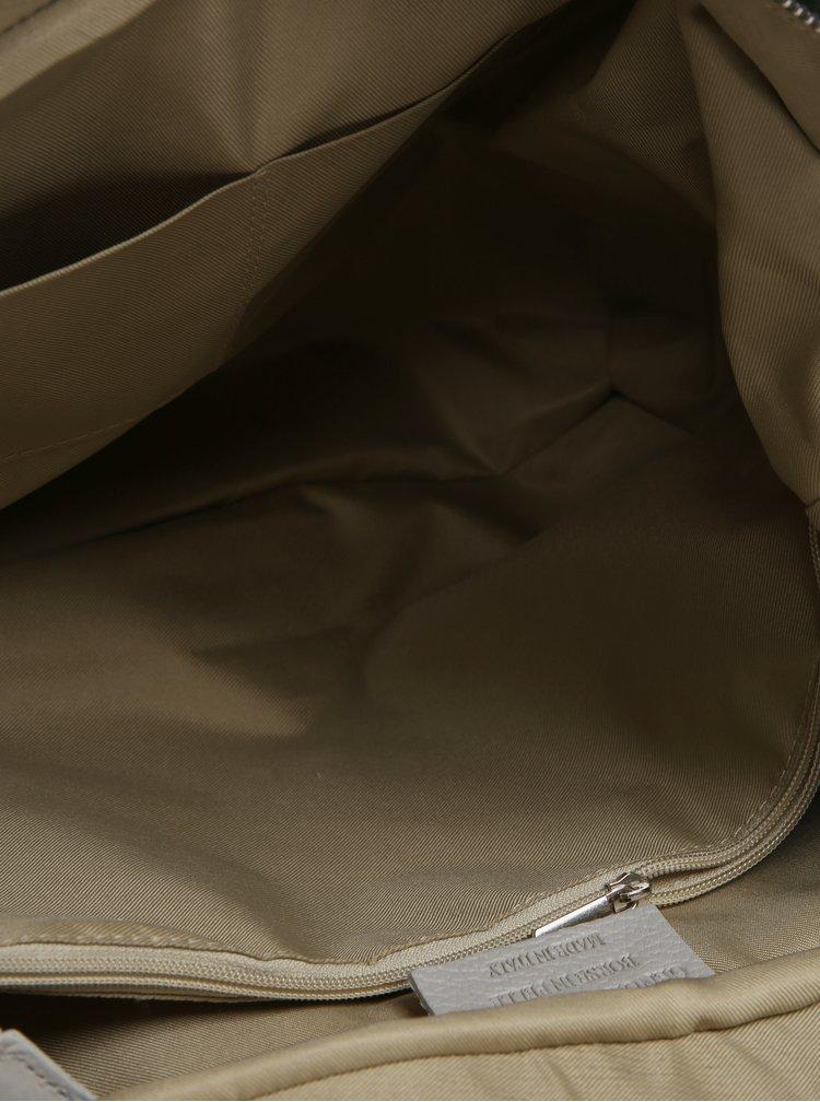 Světle šedá dámská kožená kabelka KARA