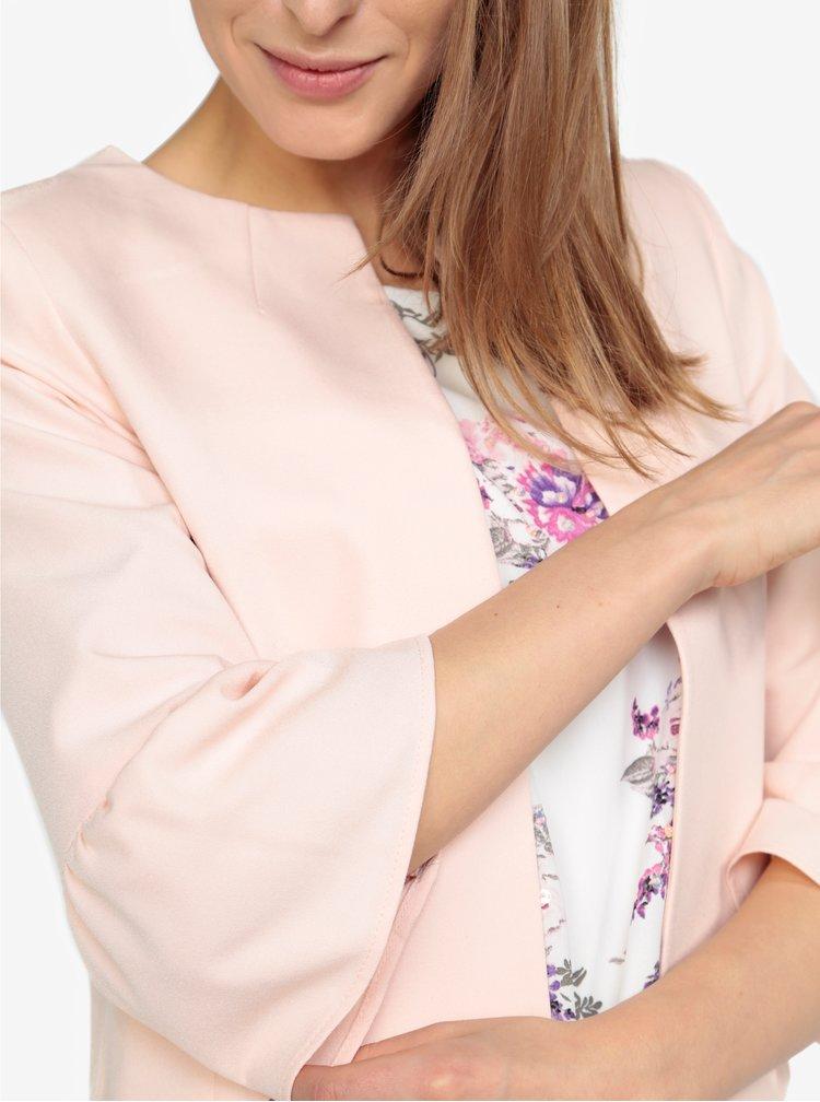 Světle růžové sako se zvonovými rukávy M&Co