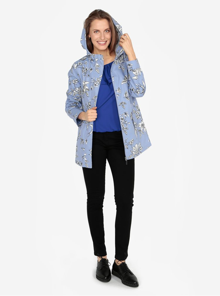 Modrá vzorovaná voděodolná bunda M&Co