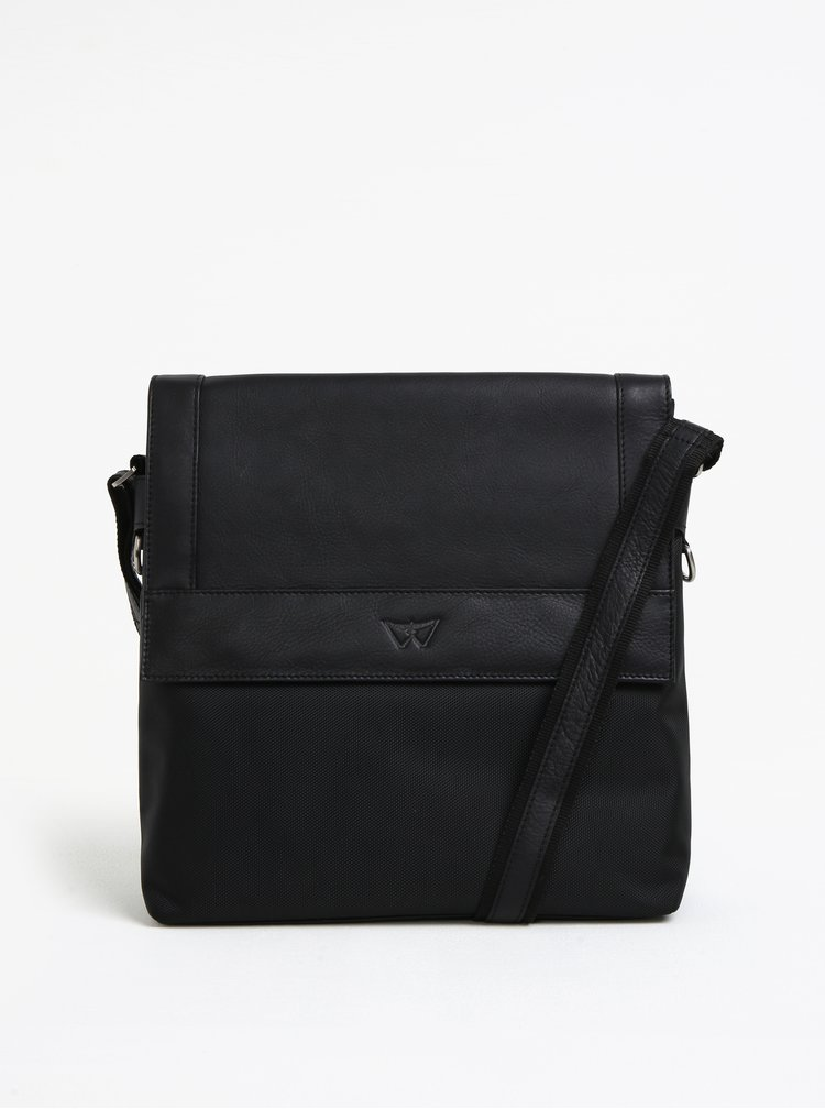 Černá pánská kožená taška KARA