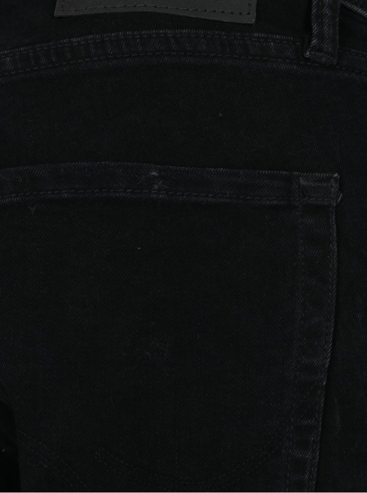 Blugi slim fit negri cu efect de uzura - Jack & Jones Tim