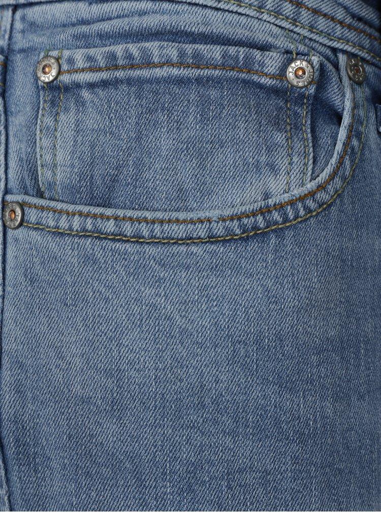 Světle modré slim fit džíny s potrhaným efektem Jack & Jones Tim