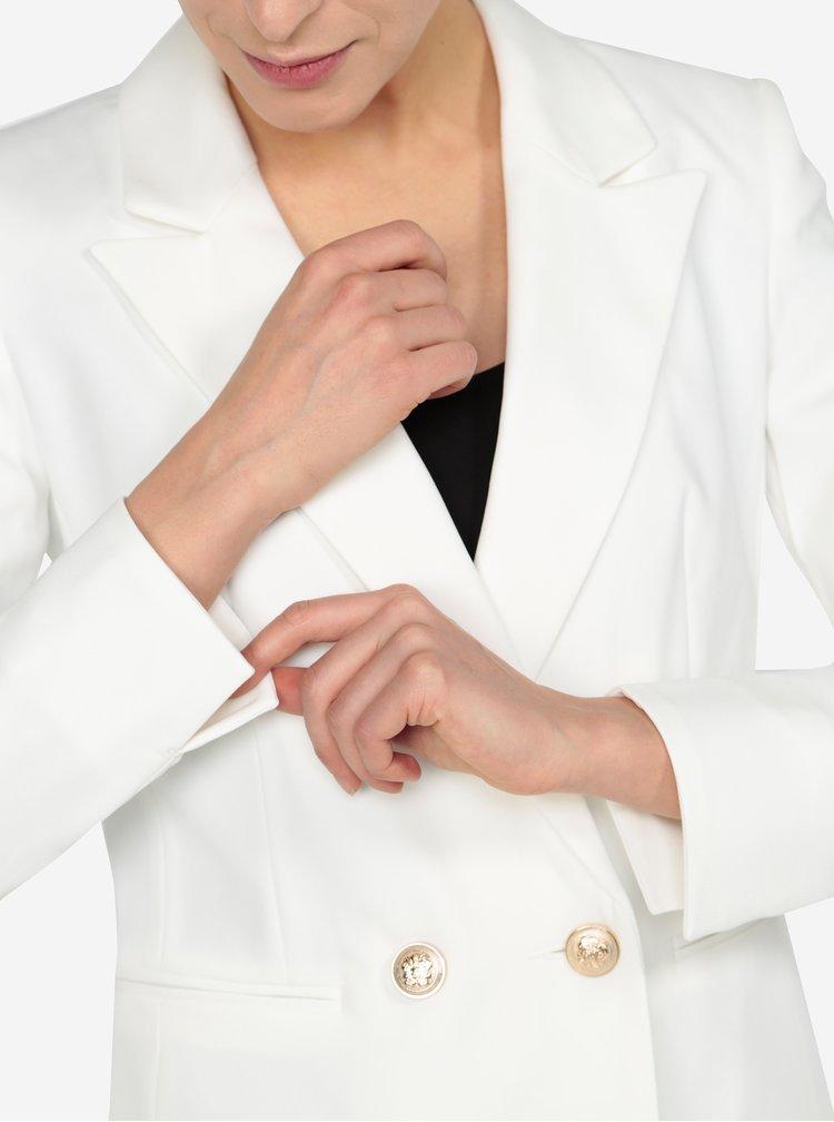 Krémové sako s knoflíky ve zlaté barvě Miss Selfridge