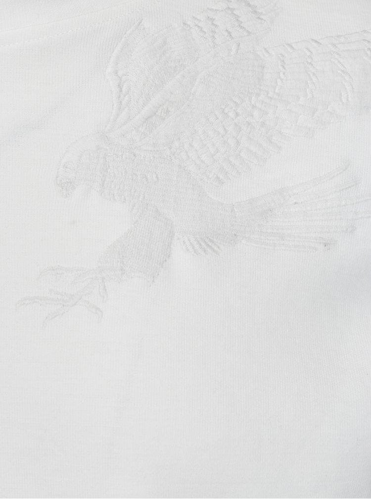 Bílá mikina s nášivkami sokola Jack & Jones William