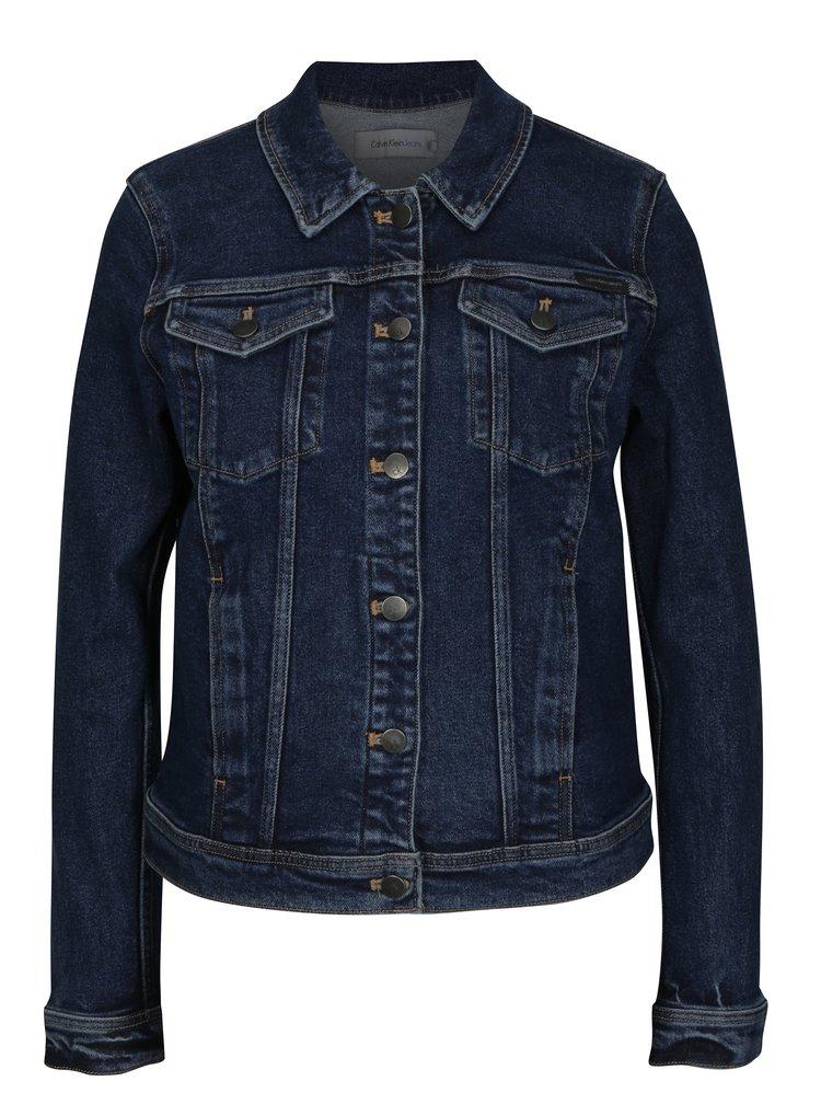 Modrá dámská džínová bunda Calvin Klein Jeans Jet Trucker