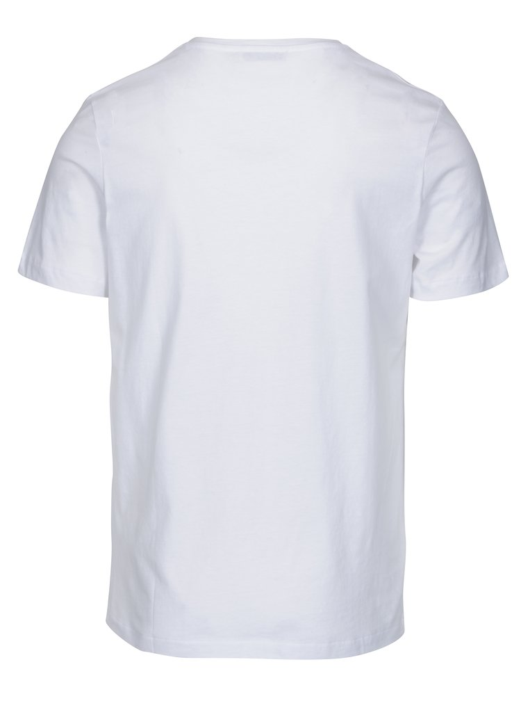 Tricou basic alb din bumbac - Jack & Jones Carter
