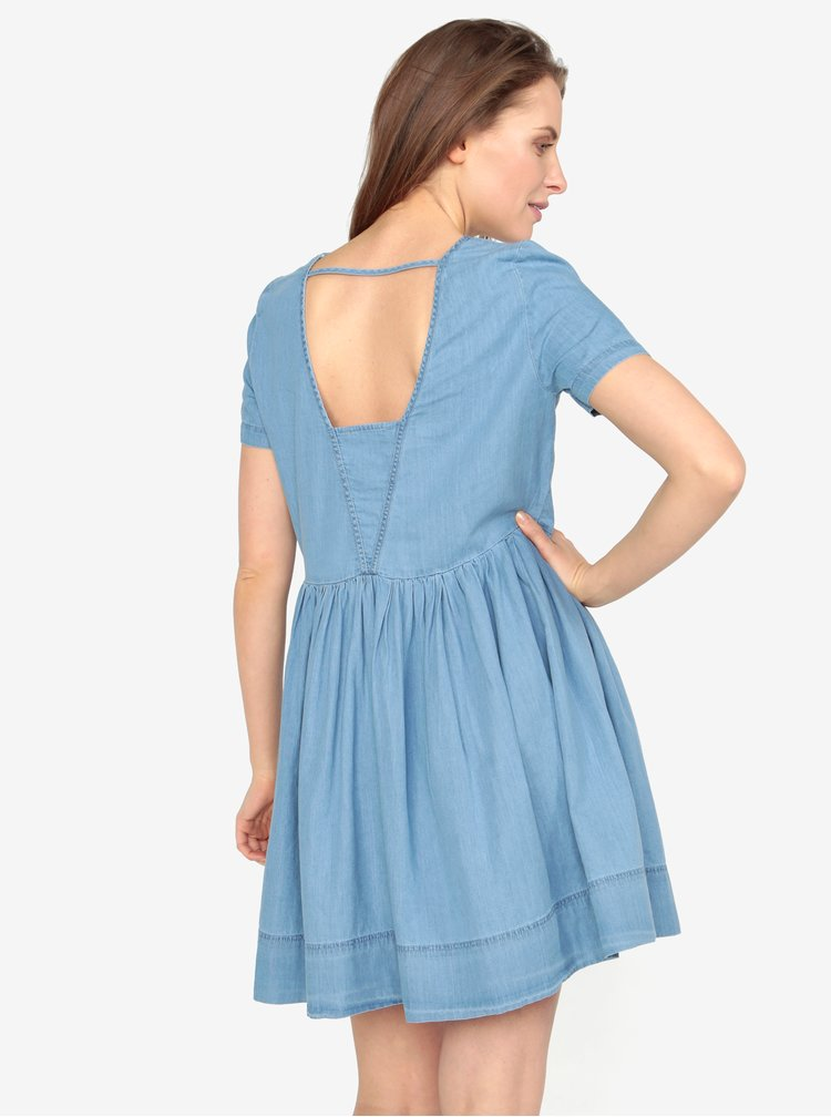 Rochie din denim bleu cu decupaj in partea din spate - VERO MODA Maya