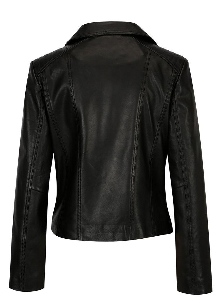 Černý dámský kožený křivák KARA Rose