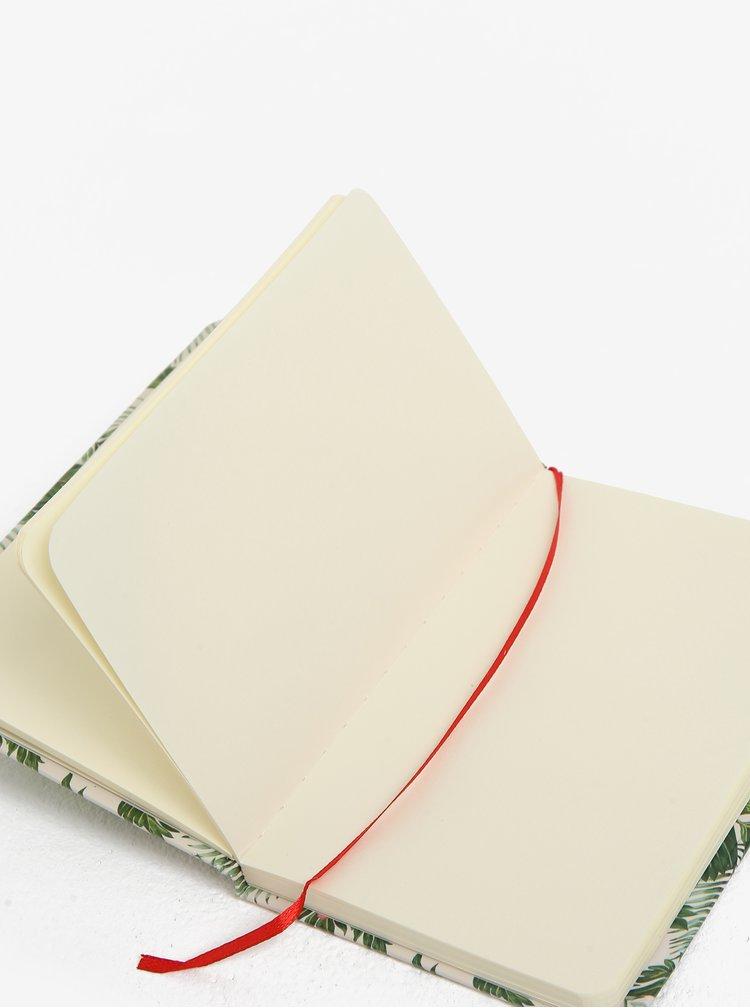 Zeleno-krémový zápisník se vzorem papoušků Kaemingk A6