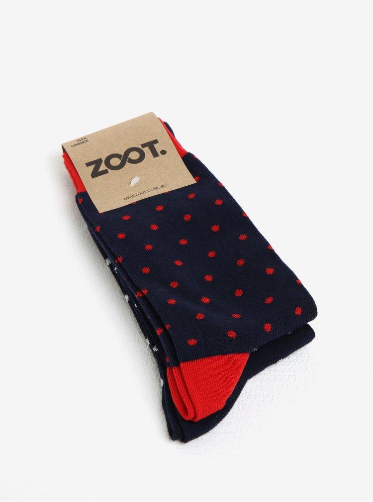 Sada dvou párů tmavě modrých pánských puntíkatých ponožek ZOOT