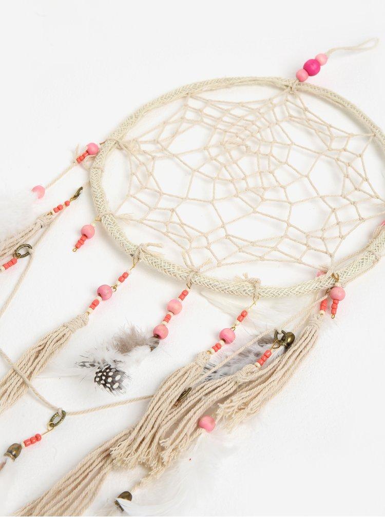Růžovo-krémový lapač snů Kaemingk