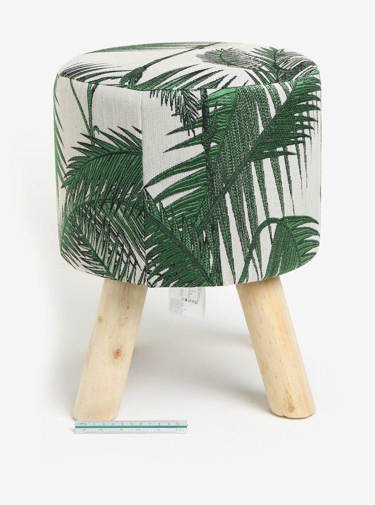 Zeleno-krémová stolička Kaemingk
