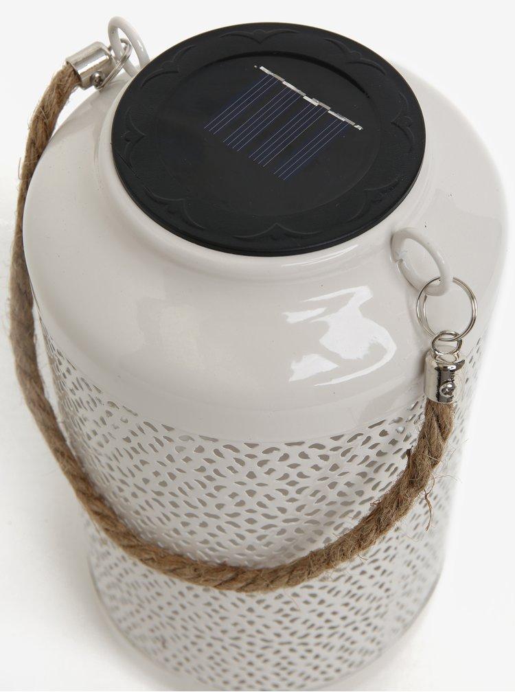 Bílé kovové solární světlo pro exteriéry Kaemingk