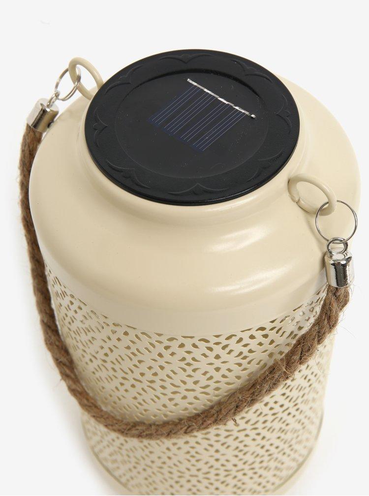 Krémové kovové solární světlo pro exteriéry Kaemingk