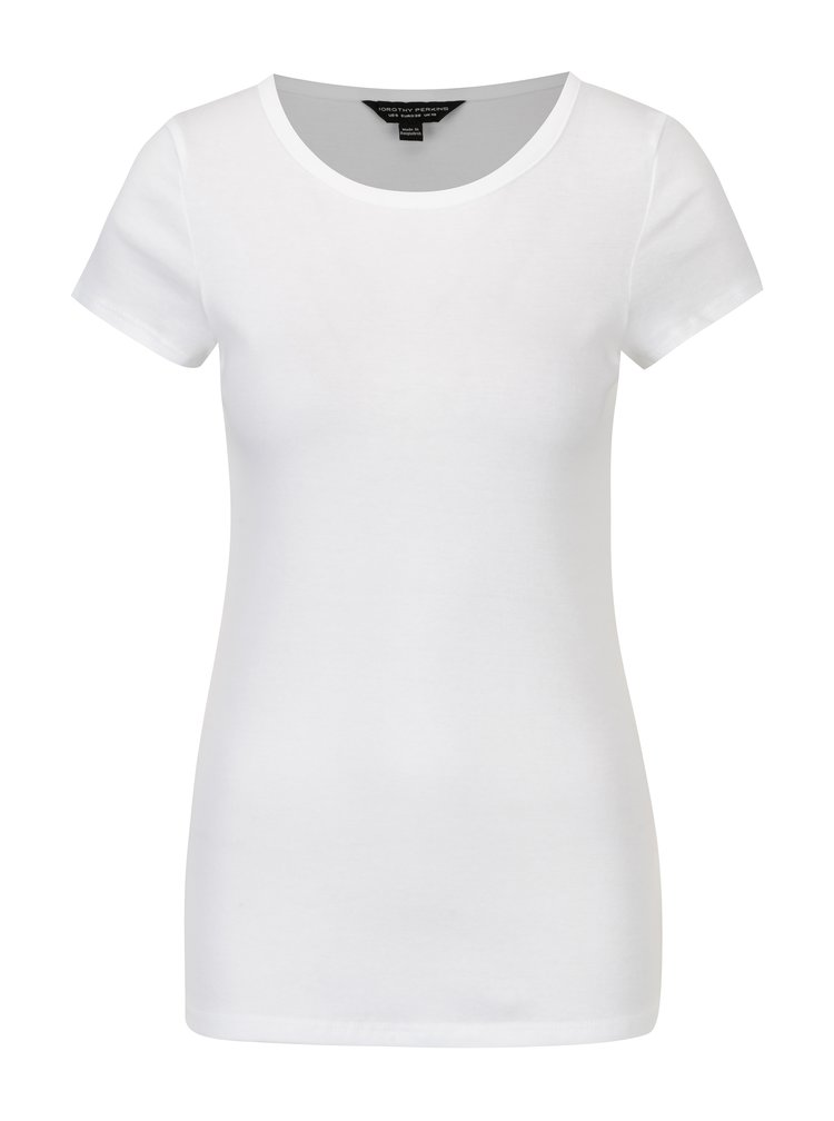 Bílé tričko s krátkým rukávem Dorothy Perkins