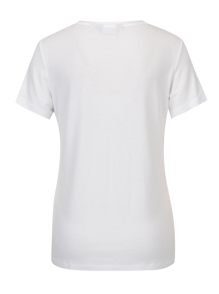Tricou alb basic cu broderie Dorothy Perkins