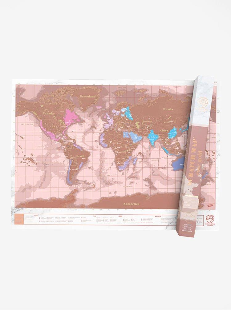 Harta razuibila auriu roze - Luckies