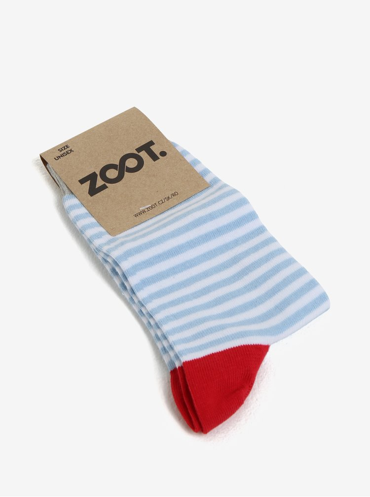 Modro-bílé dámské pruhované ponožky ZOOT