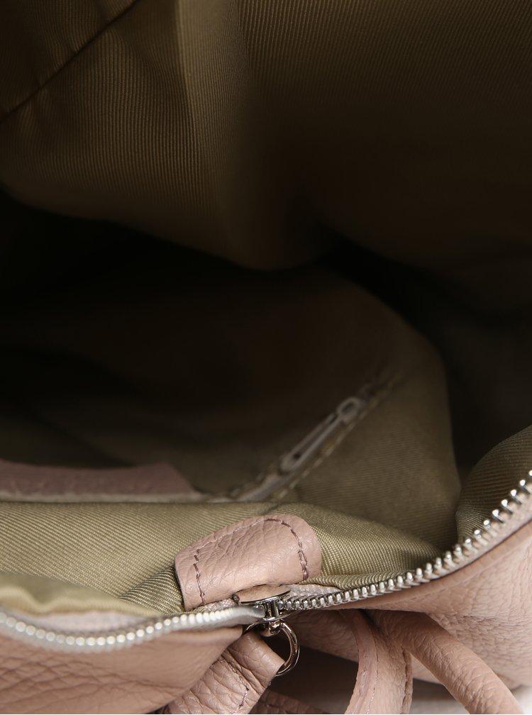 Rucsac roz prafuit din piele pentru femei - KARA