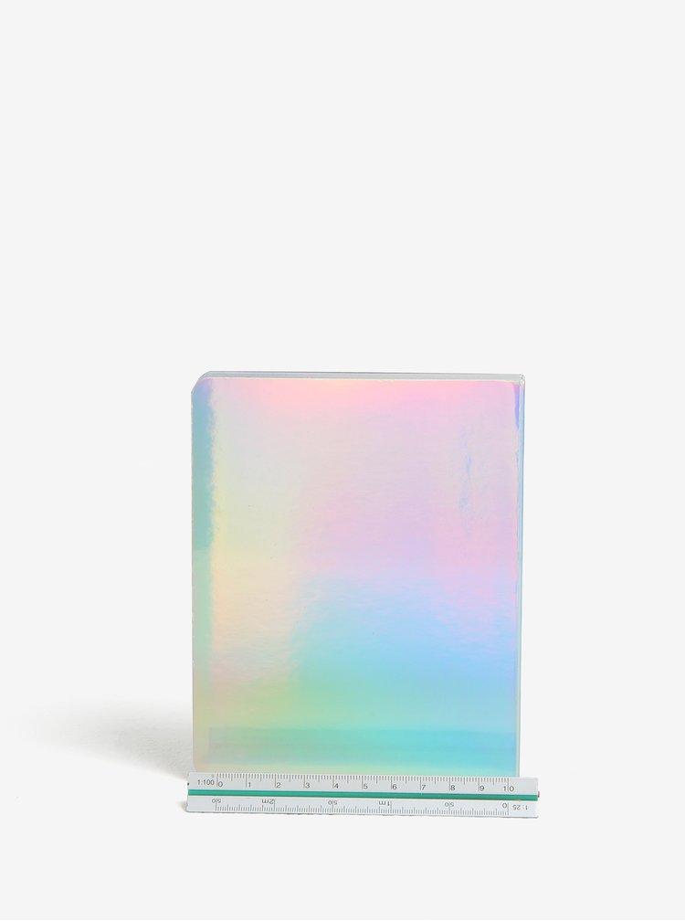 Holografický kapesní diář ve stříbrné barvě Galison