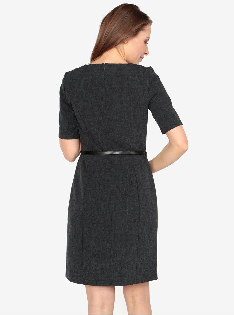 Tmavosivé melírované šaty VERO MODA Olivia