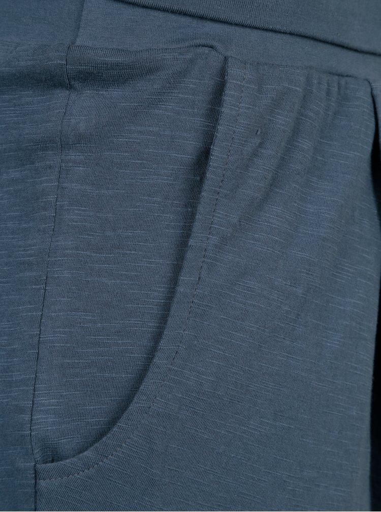Modré tepláky s vysokým pasem Tranquillo Linea