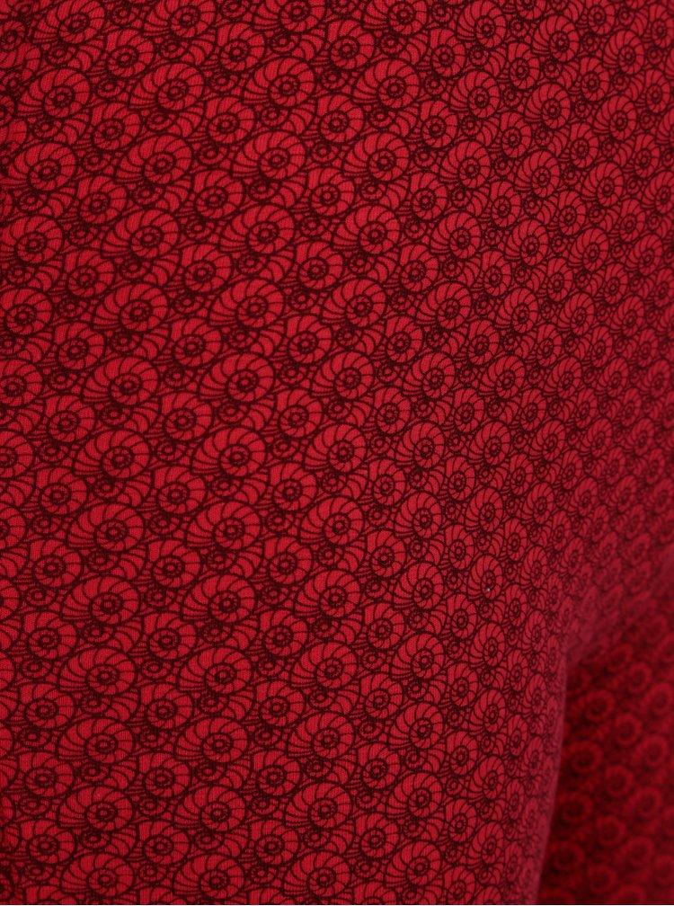Červené vzorované legíny Tranquillo Francoa