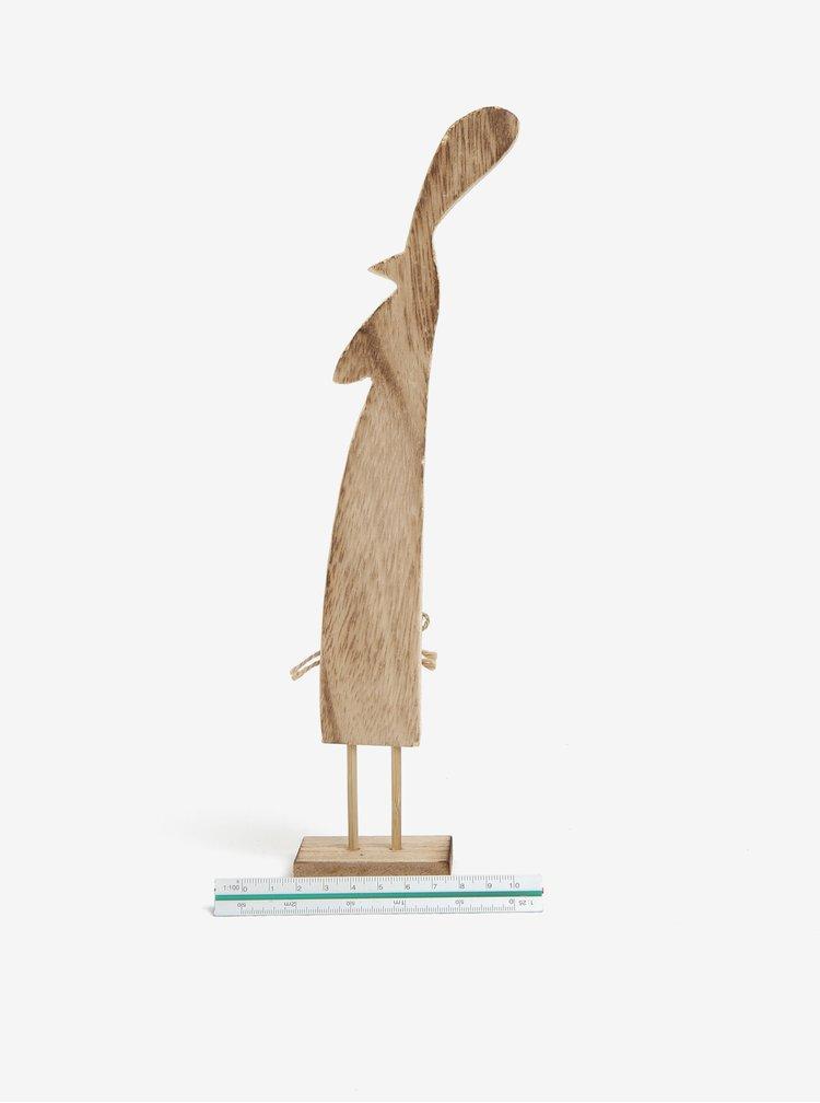 Dřevěná dekorace ve tvaru slepičky Dakls